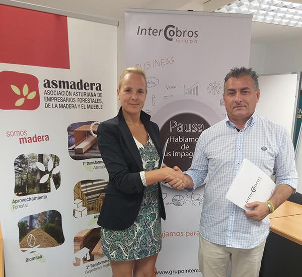 Acuerdo de colaboración entre GRUPO INTERCOBROS y ASMADERA