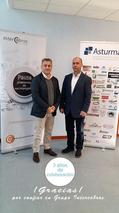 Grupo Intercobros y Asturmat cumplen 3 años de colaboración...