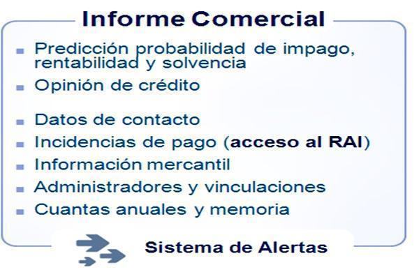 Los informes comerciales para conocer las deudas de los clientes